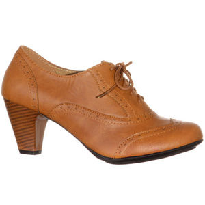 NEW Vintage Whiskey Mill Lace-Up Oxford Heels 40's